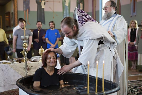 greek orthodox adult baptisim